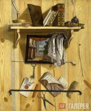 Trofim ULYANOV. Still-life with Books. 1737