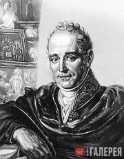 Ivan Bugaevsky-Blagodarny. Portrait of Vladimir  Borovikovsky. 1825