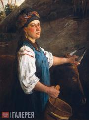 Ghe Nikolai. Portrait of A. Slyusareva (Gapka with Oxen). 1875 (?)