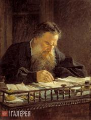 Ghe Nikolai. Portrait of Leo Tolstoy. 1884