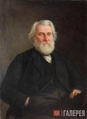 Ghe Nikolai. Portrait of Ivan Turgenev. 1871
