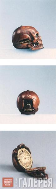 Дени МАРТИНО. Часы в форме черепа. Ок. 1630