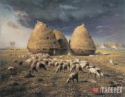 Jean-Francois MILLET. Haystacks: Autumn. c. 1874