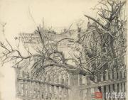 М.А.ВРУБЕЛЬ. Дерево у забора. 1904