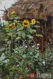 Polenova Yelena. Sunflowers. Sketch. 1885