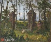 Polenov Vasily. An Old Gate. Veules, Normandy. 1874