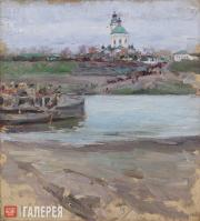 Якунчикова Мария. Тарусский паром. 1893