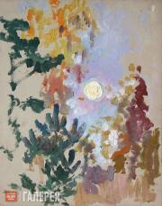 Якунчикова Мария. Деревья под луной. 1890-е