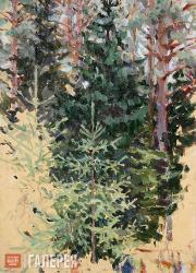 Якунчикова Мария. Светлая елочка на фоне темной елочки. 1890‑е