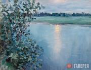 Якунчикова Мария. Река на закате [Широка река при закате]. Начало 1890-х
