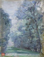 Якунчикова Мария. Аллея деревьев. Около 1898