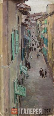 Якунчикова Мария. Улица во Флоренции. 1888