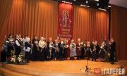 Yekaterina Khokhlova greets the Tretyakov Gallery's veterans