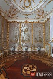 Китайский дворец. Стеклярусный кабинет после реставрации