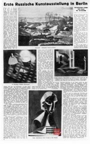 The German press on the First Russian Art Exhibition  in Germany