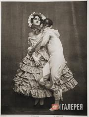"""Mikhail Fokine and Vera Fokina in the ballet """"Carnaval"""""""