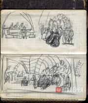 KONSTANTIN STANISLAVSKY. At the Courthouse. Scene VIII, Act V. 1926-1927