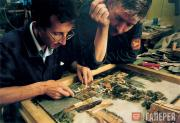 Царскосельская янтарная мастерская. Восстановление флорентийской мозаики
