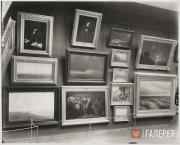 Display in the Tretyakov Gallery. Hall 4 with paintings by Arkhip Kuindzhi...
