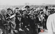 """At the opening ceremony of the """"Malaya Zemlya"""" memorial Novorossiysk. 1982"""