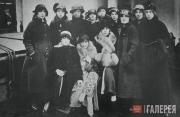 Артисты антрепризы Сергея Дягилева на гастролях в Америке. 1916