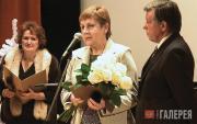 The Tretyakov Prize 6 winner 2011 Antonina Andreeva (centre)