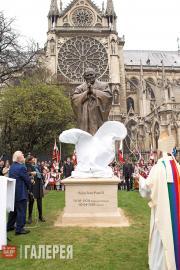 Сeremony of unveiling the monument to St. John-Paul II