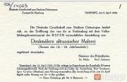Пригласительный билет на открытие выставки икон в Кунстхалле Гамбурга