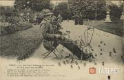 "Paris. The ""Bird Charmer"" in the Tuileries Garden"