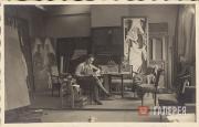Natalia Goncharova at her studio on Rue Visconti.  Photograph. Late 1920s-1930s,
