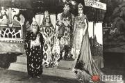 Main characters in costumes created for the production at the Casino Theatre in