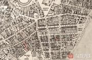 Detail of the Rogozhskaya suburb on the Moscow city plan drawn by A. Khotev