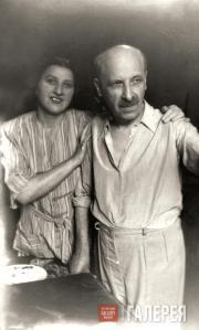 Ivan Kreitor with Anna Kreitor, his sister. 1947