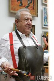 Зураб Церетели в мастерской. 2008