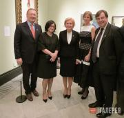At the opening of Russia and the Arts at the National Portrait Gallery, London,
