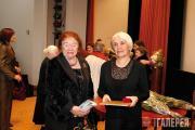 Lydia Iovleva, first Laureate of the Pavel Tretyakov Award and Nina Pomerantseva