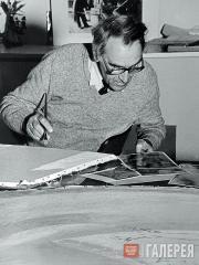 Alexei Kovalev at work. 1984