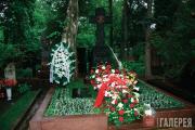 Могила Павла и Сергея Третьяковых на Новодевичьем кладбище