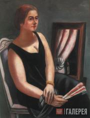 Max BECKMANN. Portrait of Minna Beckmann-Tube. 1924