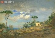 Pokhitonov Ivan. A Slope of Mount Vesuvius. 1891