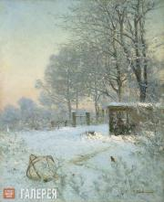 Pokhitonov Ivan. Snare for Sparrows. (Effect of snow). 1890s