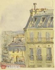 Polenova Yelena. Yelena Polenova's drawing in her letter from Paris to her mothe