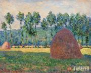 Monet Claude. Haystack near Giverny. 1884-1889