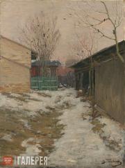Purvītis Vilhelms. Spring Landscape. A Little Courtyard. Mid-1890s