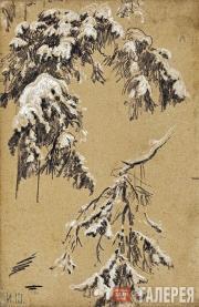 Shishkin Ivan. Tree Branches under Snow. 1890