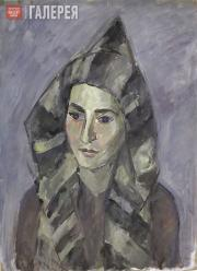 Falk Robert. Gelya in a Striped Hood. 1944