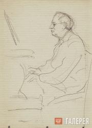 Юмашев Андрей. Р.Р. Фальк за роялем. 1950