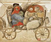 Sergei CHEKHONIN. Peasant Women from Rostov-Yaroslavsky. 1913