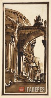 Gonzaga Pietro. Architectural Fantasy. Late 1790s