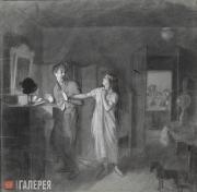 Fedotov Pavel. The Domestic Thief (The Thieving Husband). 1851